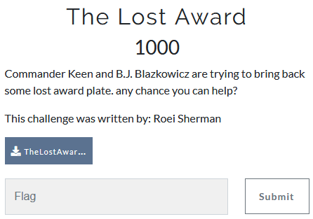 The Lost Award